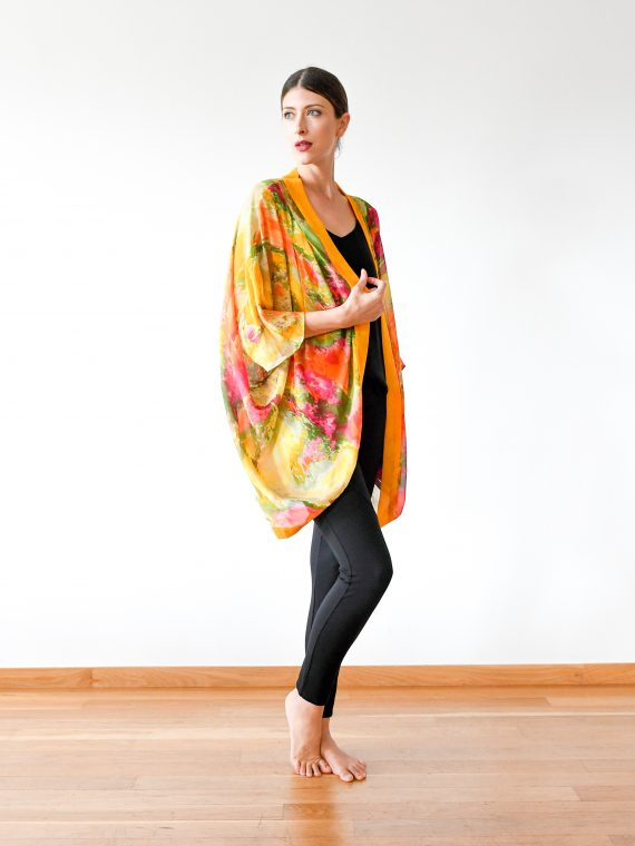 Simone Irani – Thea, Sari Sheer Cape_ Perfect Yellow 1