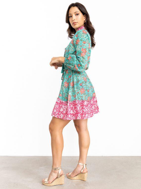 Naema, Organic Cotton Dress, Floral Printed 1